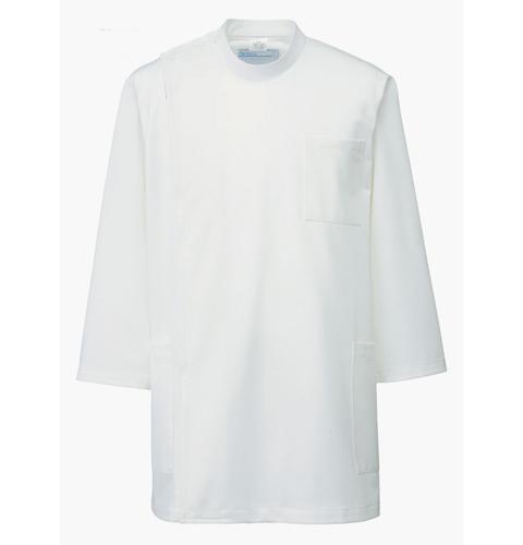 246 アプロン 医務衣 メンズ七分袖 快適な作業性を追及したケーシースタイル