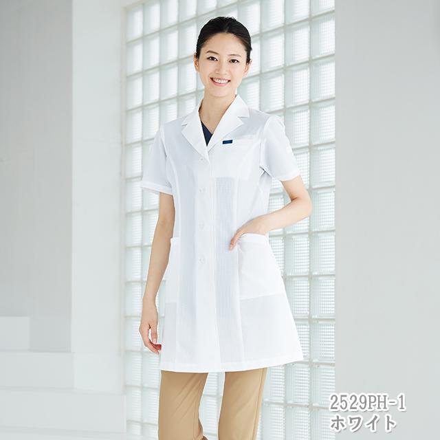 2529PH 女子 シングルコート 半袖 フォーク製品