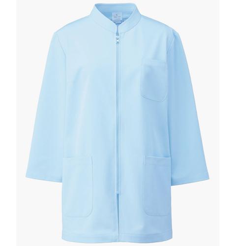 264 アプロン レディス医務衣 七分袖 着脱しやすいフロントジップアップタイプ