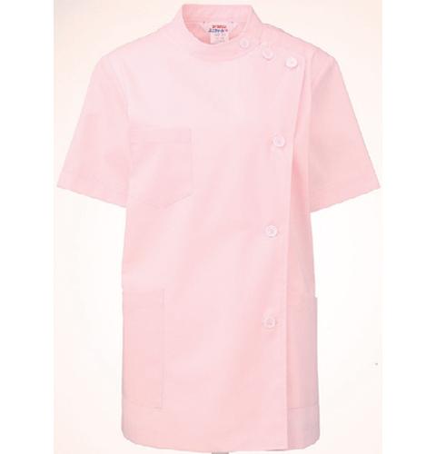 360-33 アプロン レディス医務衣 半袖 ピンク