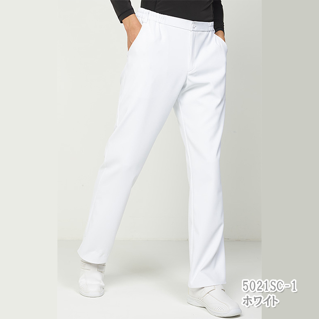 5021sc メンズ パンツ フォーク製品 男性用 ナースパンツ 白 ネイビー