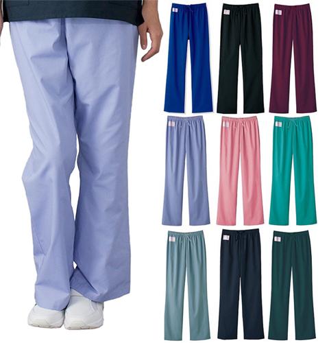 6003SC フォーク 男女兼用 スクラブ ストレート パンツ 男性用 女性用 白衣 医療用 ナース 看護服 白衣ネット