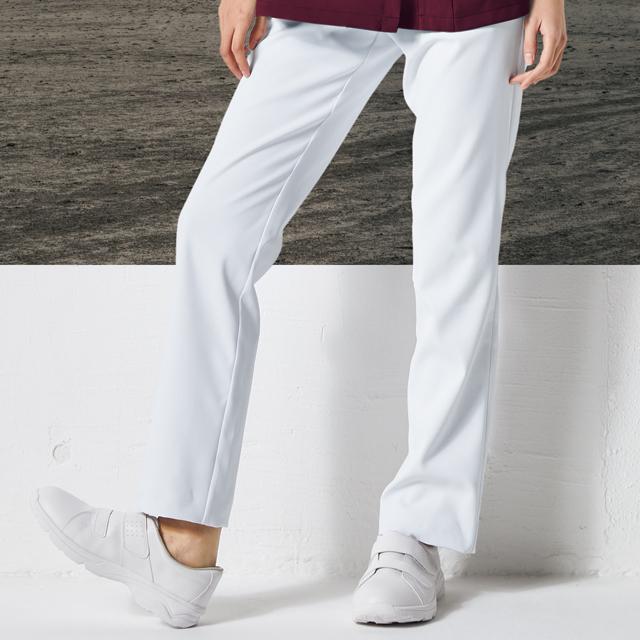 6014SC フォーク レディスパンツ[ストレッチパンツ  医療用 ドクター ナース 女性  白衣  大きいサイズ]