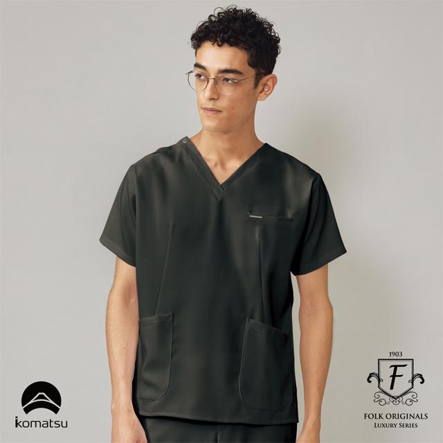 7077SC フォーク ドクターウェア メンズ スクラブ 男性用 医療用 医師 ドクター 白衣