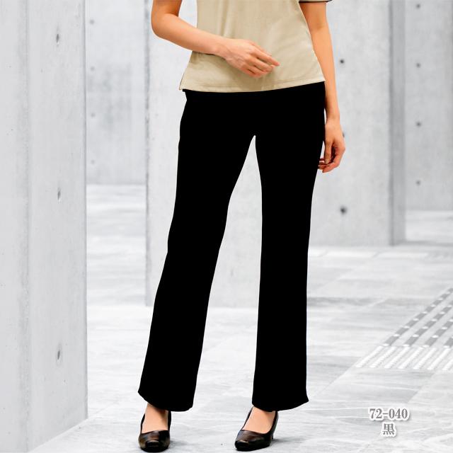 72-040 モンブラン製品 パンツ レディス 女性用 ノータック 総ゴム 黒 ブラウン