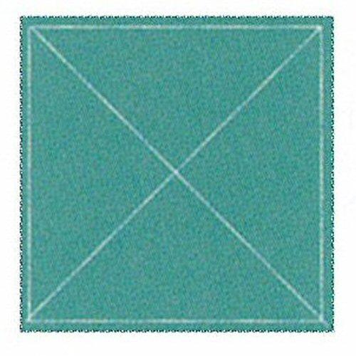 Ad90200 二重 四角巾 50cm×50cm(グリーン)
