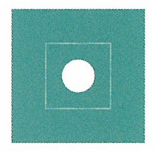 Ad90303 一重四角巾(丸穴) 90cm×90cm φ12cm(グリーン)