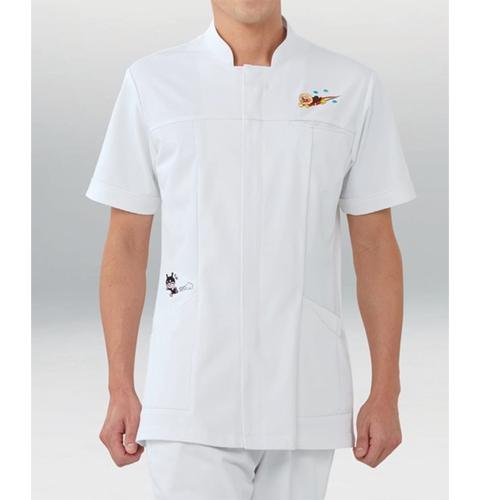 ANP093 KAZENカゼン メンズジャケット半袖 アンパンマン 男性用 看護師 ナース 医師 ドクター 大きいサイズ
