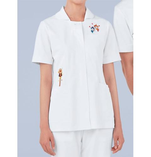 ANP100 KAZENカゼン レディスジャケット半袖 アンパンマン 女性用 看護師 ナース 医師 ドクター 大きいサイズ