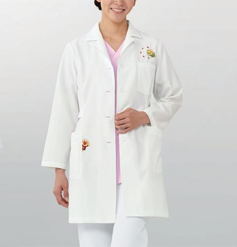 ANP261 KAZENカゼン レディス診察衣(ハーフ丈) アンパンマン 女性用 ドクター 医師 看護師 ナース