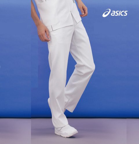 CHM651 asics メンズパンツ[白衣 ナースウェア 看護師 介護 男性用 病院 医院]