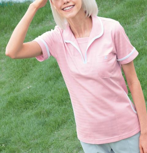 CUL5302 クレージュ 首まわりゆったりカジュアル感プラス 男女兼用ケアワークシャツ ナガイレーベン製[送料無料]