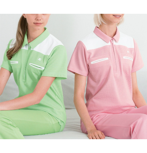 CUY2557 クレージュ 繊細なチェック柄と柔らかなカラーで表情豊かに 男女兼用シャツ ナガイレーベン製[送料無料]