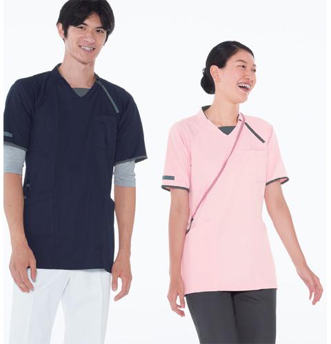 CX3112 ナガイレーベン ニットシャツ 男女兼用  [介護 ケアウェア チュニック 男女兼用]