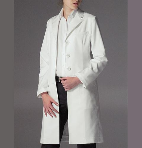 FD4040 ナガイレーベン 女子 診察衣 シングルボタンタイプ [送料無料 白 ホワイト 白衣 レディース 女性]