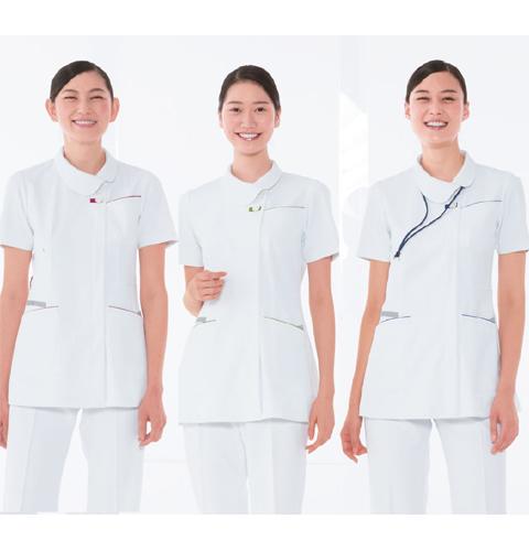 FT4592 ナガイレーベン(Naway) 女性用 ナース上衣 制菌加工 制電、吸水、防汚、透け防止効果【送料無料】