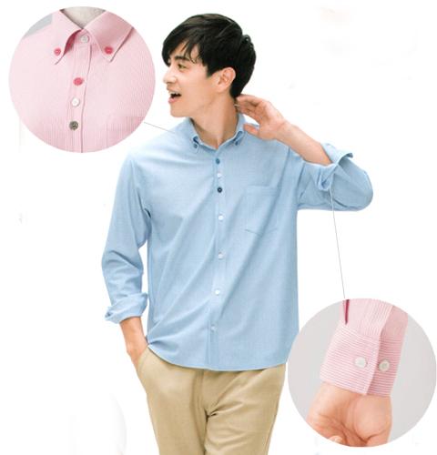 《シワになりにくく、透けにくい》HM2418 長袖ニットシャツ(男女兼用)