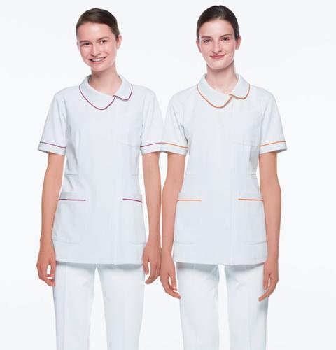 HOS4902 ナガイレーベン  レディース ナースウェア 上衣 半袖 [白衣 女性 女子 医療 ナース服 チュニック 女性用]