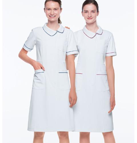 HOS4907 ナガイレーベン  レディ-ス ナースウェア ワンピース 半袖 [白衣 女性 女子 医療 看護衣 ナース服 ワンピース 女性用]
