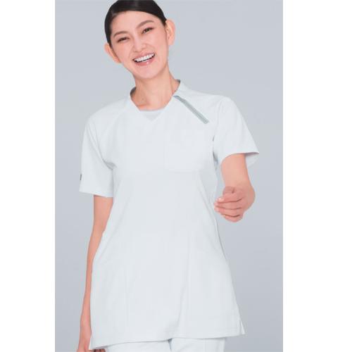 HOS5222 ナガイレーベン  男女兼用上衣(ストレッチ)  [介護 ケアウェア 看護師 ナース チュニック 男女兼用]