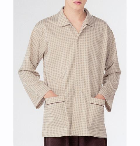JK1416 ナガイレーベン(Naway) 男女兼用 患者衣上衣 パジャマ型 [男性用 女性用 パジャマ ユニセックス メンズ レディース 着脱簡単 吸水効果 患者衣]