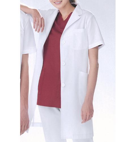 KEX5132 ナガイレーベン(Naway)KexStar女子半袖シングル診察衣