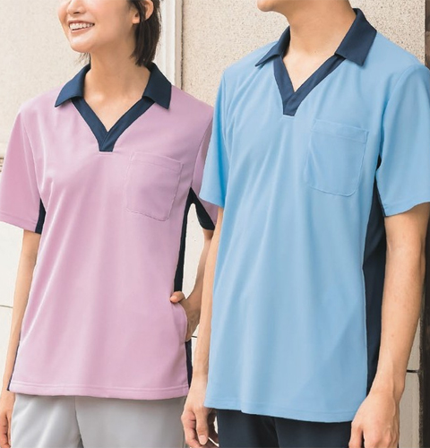 KZN218 ニットシャツ男女兼用 半袖 KAZENカゼン