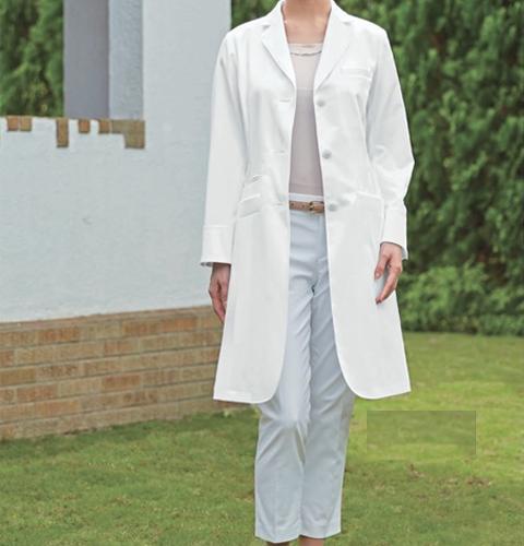 KZN410 KAZENカゼン レディス診察衣  長袖 [白衣 医療用 医師用 ドクター 女性 ]