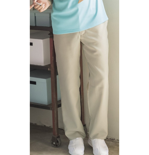 KZN861 カゼン ナースウェア パンツ 男性用 ノータック 脇ゴム ポケット付き ウエストベルト通し付 ストレッチ 工業洗濯可 KAZEN 医療用 看護師 介護 医師 ドクター メンズ スラックス ズボン 4L 5L
