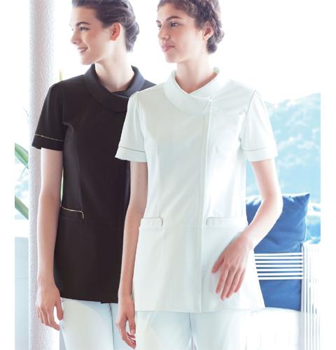 LH6222 ナガイレーベン(Naway) レディース ナースウェア 上衣 半袖 [白衣 女性 女子 医療 ナース服 チュニック]