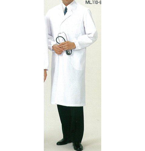 <お買い得>ML110 男子シングル診察衣(長袖)
