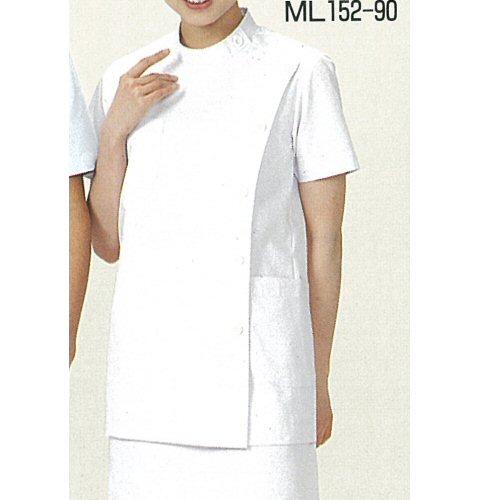 <お買い得>ML152 女子横掛白衣(半袖)