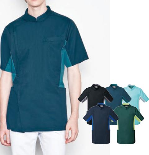 MZ-0129 ミズノ メンズジャケット 衿付き フロントジップ [吸汗速乾 男性用 医療 白衣 看護 ナース カラー]