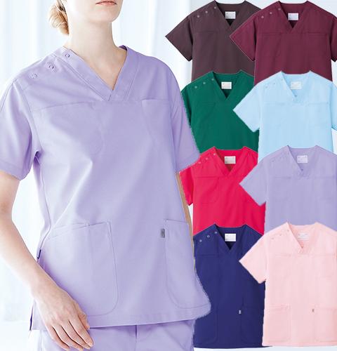 ミズノMZ-0051 体温調節機能素材使用 男女兼用スクラブ上衣 暑さの中では涼しく、寒さの中では暖かい