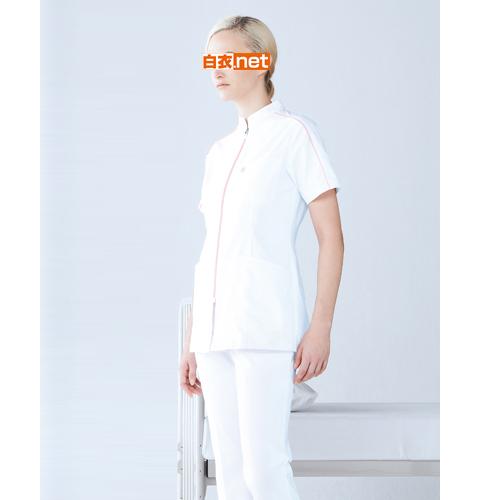 MZ-0081 ミズノ レディス ナースジャケット 背面に伸縮ニットを採用した 動きやすいウェア [抗菌 防臭 透防止 制電 女性用 医療 白衣 看護 ナース 送料無料]