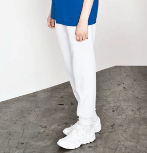 MZ-0122 ミズノ 男女兼用 ホワイトジョガーパンツ (mizuno 白衣 パンツ スクラブパンツ看護師用 ナース  メンズ 男性 レディース 女性 手術着 白)