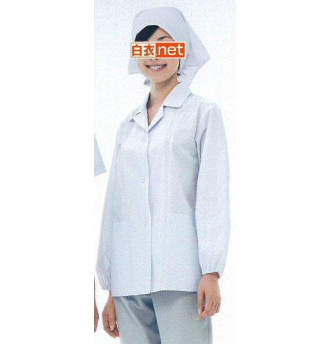 NP430 女子食品衣長袖(衿付)