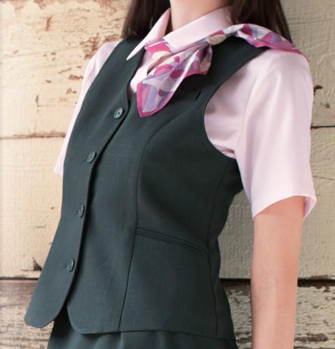 OA6010 ナガイレーベン 女子 ベスト [レディース 制服 事務服 オフィス スーツ グレー ネイビー]
