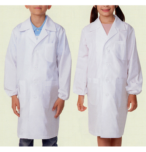 PER121-2 児童用白衣コート 男女兼用 給食衣(食品白衣 子供用白衣 実験用白衣 モンブラン)