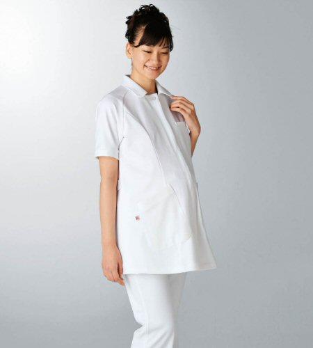 UQW1026 ルコックスポルティフ lecoqsportif マタニティ ナースジャケットストレッチ素材[白衣 女性用]