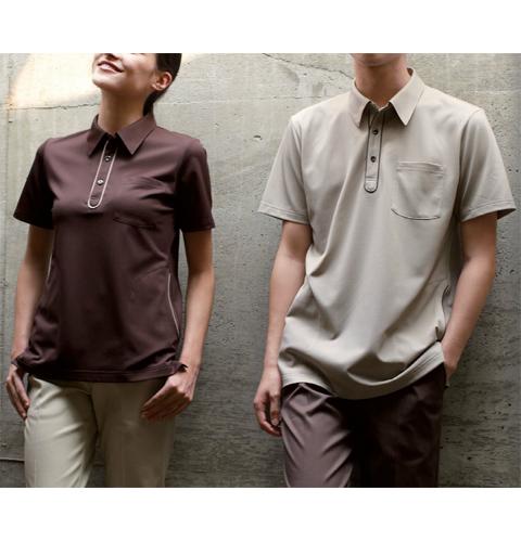 RK5272 ナガイレーベン ヘルスヘルパー 爽快素材で快適な着心地 男女兼用ニットシャツ