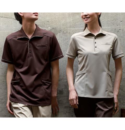 RK5277 ナガイレーベン ヘルスヘルパー 爽快素材で快適な着心地 男女兼用ニットシャツ