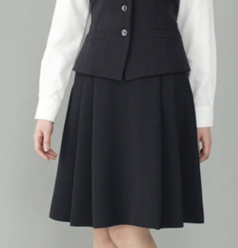 FS45791 バックアップ ポケット付 ソフトプリーツスカート