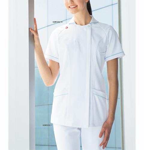 UQW1028 ルコックスポルティフ lecoqsportif ストレッチ ナースジャケット[白衣 ナースウェア 女性用]