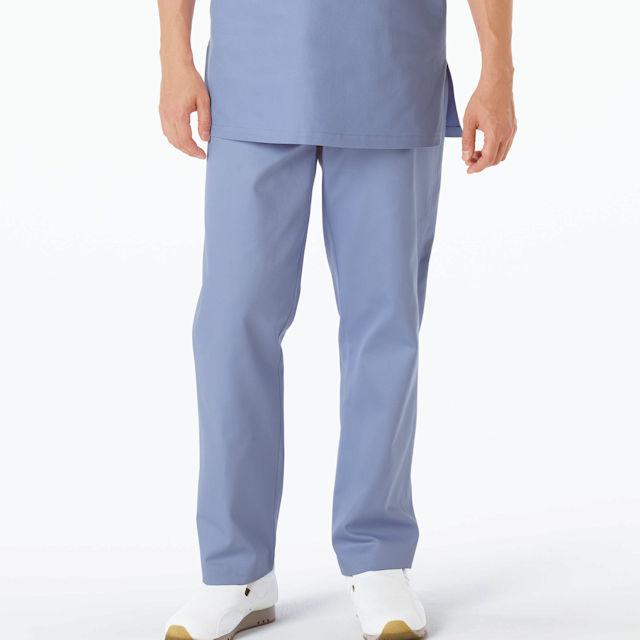 AD318 ナガイレーベン 手術着 パンツ 男性用 半袖 綿100 制電 吸水 NAGAILEBEN 医療用 ドクター 医師 医者 オペ着 手術衣 メンズ 男子 パンツ ズボン 白衣 ブルー グリーン