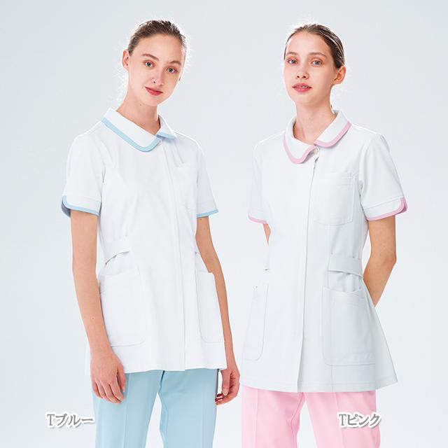 CD2832 ナガイレーベン ナースウェア ジャケット 女性用 PHSポケット 二重ポケット ポリエステル100 制菌加工 制電 吸水 防汚 透け防止 ニット素材 NAGAILEBEN 医療用 看護師 歯科衛生士 上衣