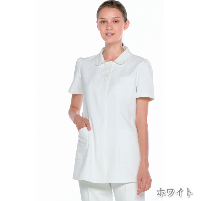 CF4802 女子 上衣 ナガイレーベン製品(女性用 レディース レディス ジャケット 白衣 ホワイト ピンク ブルー)
