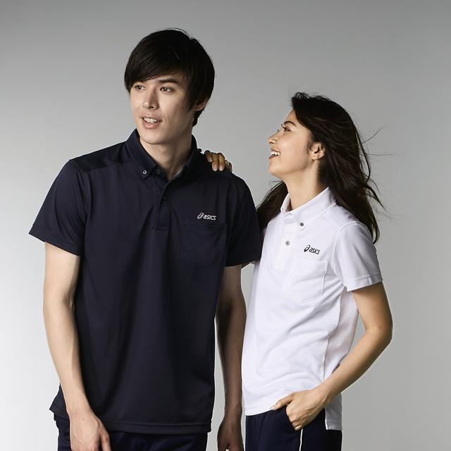 chm307 アシックス 男女兼用 ポロシャツ 半袖 モンブラン製品