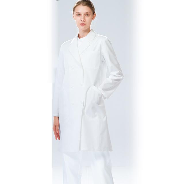 EM3025 ナガイレーベン(Naway)エミット女子ダブルボタン診察衣 長袖