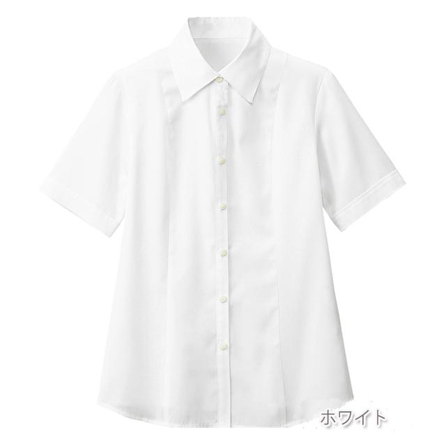 FB710E フォーク オフィスウェア ブラウス 半袖 女性用 吸汗 速乾 ホームクリーニング 家庭洗濯 涼しい FOLK 事務服 通勤 制服 シャツ レディース レディス 小さいサイズ 大きいサイズ